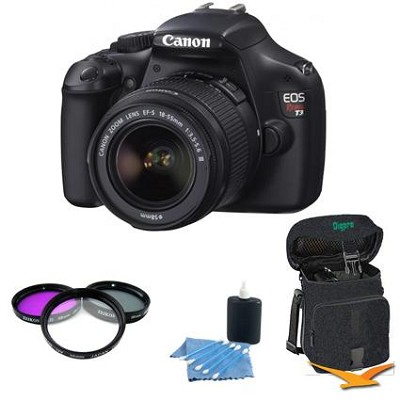 EOS Rebel T3 SLR Digital Camera w/ 18-55mm Lens PRO Bundle