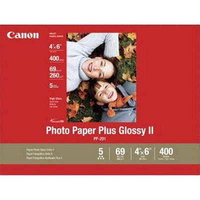 Photo Paper Plus Glossy II 4` X 6` - 400 Sheets