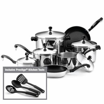 50049 Classic Stainless Steel 15-Piece Cookware Set
