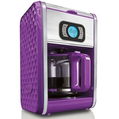 Bella Diamonds Programmable Coffee Maker in Purple - 13926