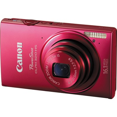 PowerShot ELPH 320 HS 16MP Red Digital Camera 5x Optical Zoom 3 inch Touch LCD