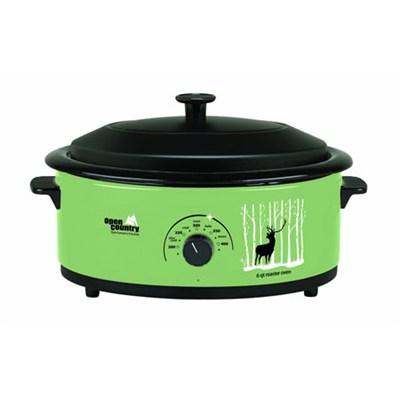 Roaster Oven, 6-Quart - Green