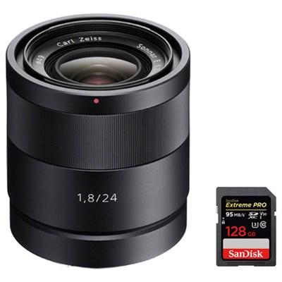 Carl Zeiss 24mm f/1.8 E-Mount Lens w/ 128GB Memory Card