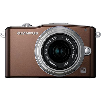 E-PM1 Brown w/14-42mm Lens - OPEN BOX