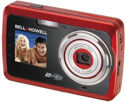 2View 12 MP Dual LCD Digital Camera - Red