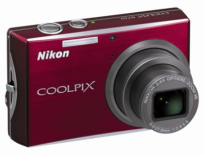 Coolpix S710 Digital Camera (Deep Red)