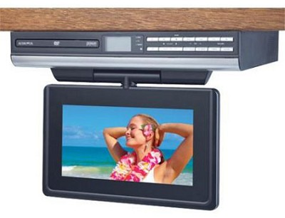 VE927 9` LCD Drop Down TV with Built-In DVD