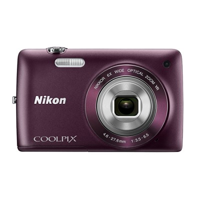 COOLPIX S4300 16MP 3-inch Touch Screen Digital Camera - Purple Refurbished