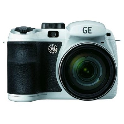 GE Power Pro X550-WH 16 MP with 15 x Optical Zoom Digital Camera, White
