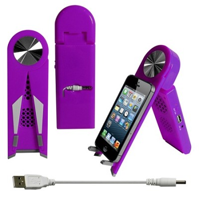 Stand Speaker for Tablets & Smartphones in Purple