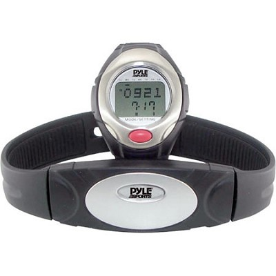 One Button Heart Rate Watch W/ 3D Running/ Walking Sensor