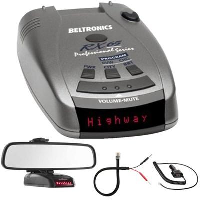 RX65 Red Professional Series Radar/Laser Detector w/ Mirror Mount Kit
