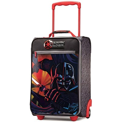 18` Upright Kids Disney Themed Softside Suitcase (Star Wars Darth Vader)