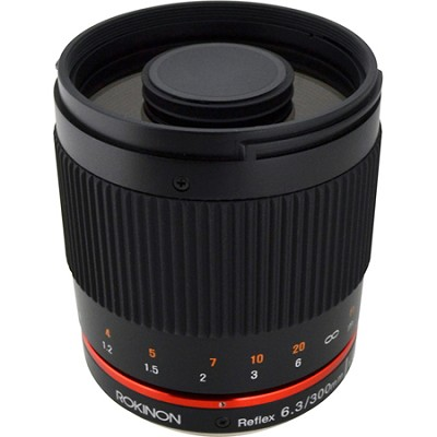 300mm F6.3 Mirror Lens for Fuji X (Black)