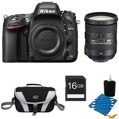 D610 FX-format 24.3 MP 1080p video Digital SLR And  18-200MM VR Bundle