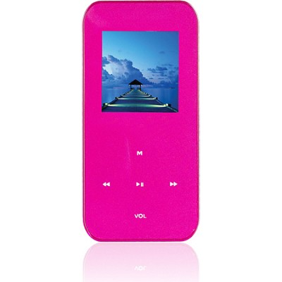 4 GB MP3 Video Player with 1.5` LCD, FM Radio, Recorder (Pink)