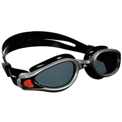 Aqua Kaiman EXO Swim Goggle with Mirrored Lens and Silver/Black Frame - 175760