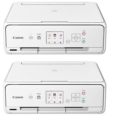 PIXMA TS5020 Wireless Color Photo Printer with Scanner & Copier (White) 2 Pack