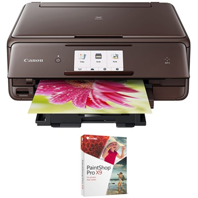 PIXMA wireless Color Photo Printer, Scanner & Copier Brown + Paint Shop X9