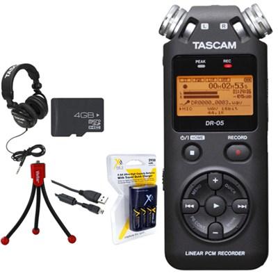 Portable Digital Recorder DR-05 with 4 GB Deluxe Studio Bundle