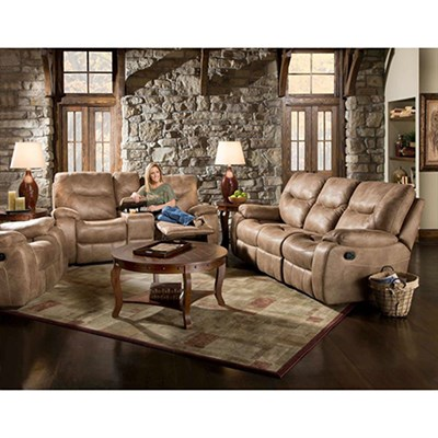 Homestead Two Piece Living Room Furniture Set: Sofa Loveseat - 98505A2PC-SN