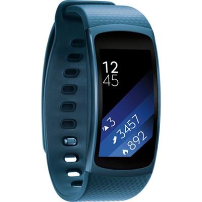 SM-R3600ZBNXAR Gear Fit2 Smartwatch w/Small Band - Blue - OPEN BOX