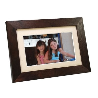 SP700W 7-Inch Digital Picture Frame - Wood Espresso Brown
