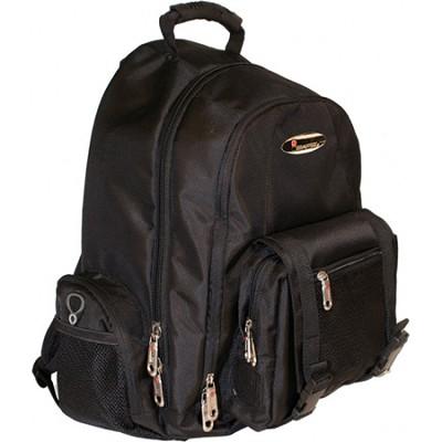 Built-in Alarm Collegiate 15` Laptop Backpack - Black