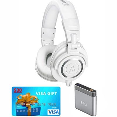 ATH-M50X Professional Studio Headphones w FiiO A1 Amplifier & $30 Visa Gift Card