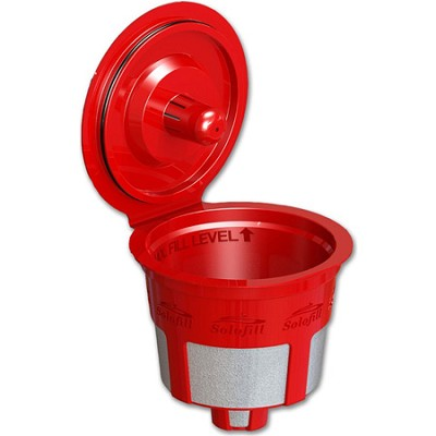 Reusable Single-Serve K3 Chrome K-Cup Filter for Keurig K-Cup Brewers