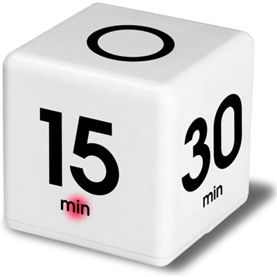 TimeCube - White Simple Timer (DF-33)