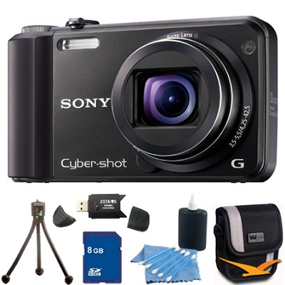 Cyber-shot DSC-H70 Black Digital Camera 8GB Bundle