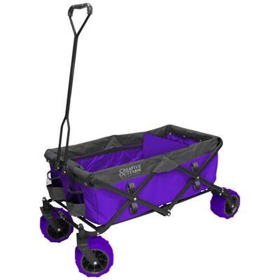 Distributor All-Terrain Folding Wagon in Purple and Grey - OPEN BOX