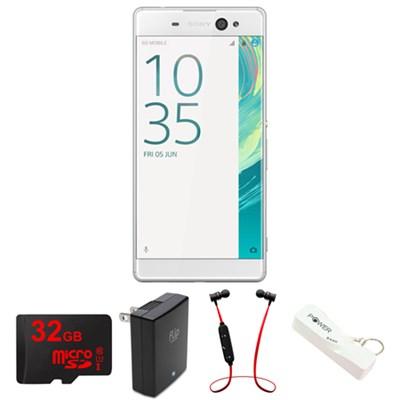 Xperia XA Ultra 16GB 6-inch Smartphone, Unlocked - White w/ Headphone Bundle