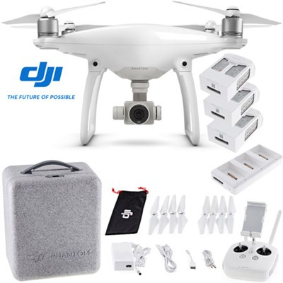 Phantom 4 Advanced Quadcopter Drone with 2 Extra Batteries and Charging Hub