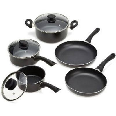 Non-Stick 8-Piece Cookware Set in Black - EABK-1208