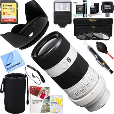 70-200mm Full Frame F4 G OIS Interchangeable E-Mount Lens + Ultimate Kit