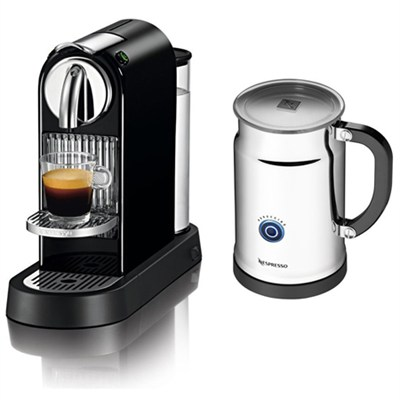 Citiz Espresso Maker with Aeroccino Plus Milk Frother Black