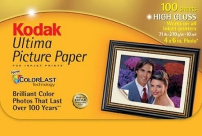 Ultima Picture Paper 4x6, 100 Sheets (High Gloss)