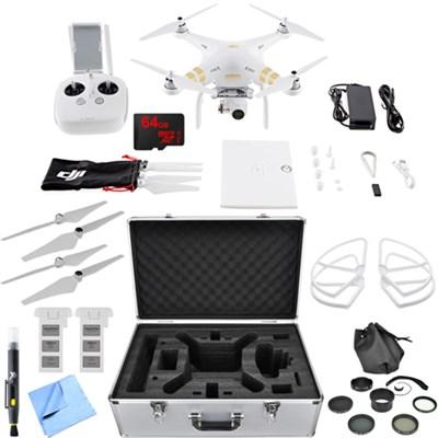 Phantom 3 4K Quadcopter Drone with 4K Camera Essential Accessory Bundle