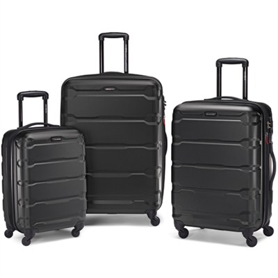 Omni Hardside Luggage Nested Spinner Set (20`/24`/28`) Black (68311-1041)