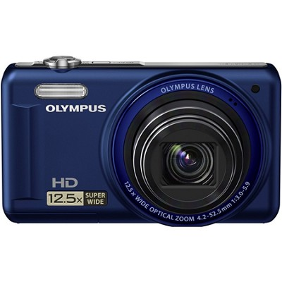 VR-320 14MP 12.5x Super Wide Zoom Blue Digital Camera