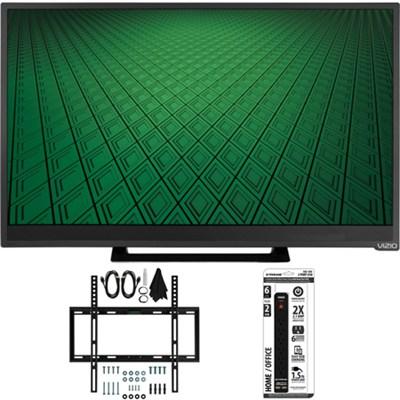 D28hn-D1 - D-Series 28` Class 60Hz 720p LED TV Flat Wall Mount Bundle