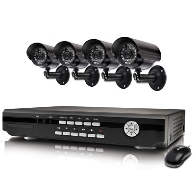 Alpha 4 Channel DVR & 4 Indoor/Outdoor Cameras