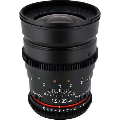 CV35-NEX 35mm t/1.5 Aspherical Wide Angle Lens for Sony E-Mount Fixed Lens
