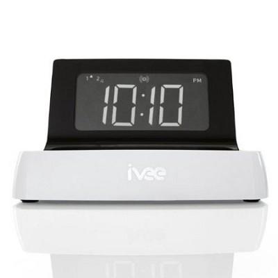 Digit Voice Controlled Talking Alarm Clock ( White ) - OPEN BOX