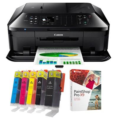 PIXMA MX922 Inkjet Office All-In-One Printer w/ Cartridge Kit + PaintShop Pro