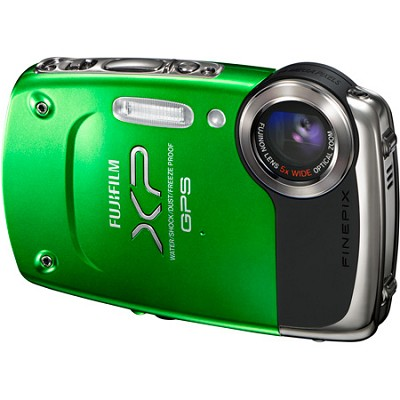 FINEPIX XP30 14 MP Underwater Digital Camera w/ Fujinon 5x Zoom Lens (Green)