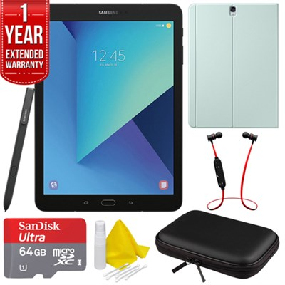 Galaxy Tab S3 9.7` Tablet with S Pen - Black w/ Extended Warranty Bundle