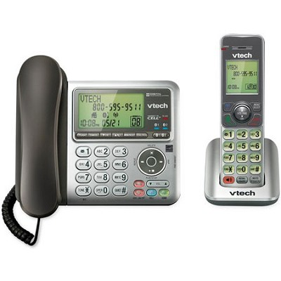 Corded/Cordless Connect to Cell Phone Answering System with Caller ID - DS6641